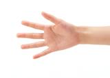 手のひらが一番鈍感